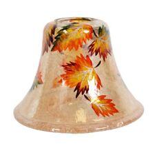 Hojas de color ámbar Vela Cortina De Lámpara Accesorio Jar