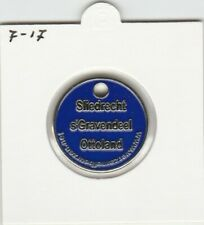 Winkelwagenmuntjes : Sliedrecht - Ottoland - s'Gravendeel (blauw) - 0717