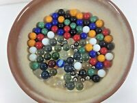 """ESTATE Lot """"STEELIE"""" Peewee Tiny Steel & Bubble Glass Marbles & Others"""