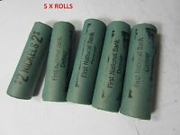(5) Old Sealed Buffalo Nickel Rolls // FIRST NATIONAL BANK DENVER // 200 COINS!