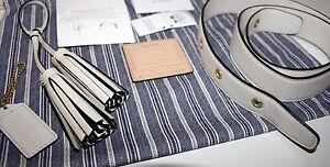 COACH Legacy Leather Duffel Kit #21848 LIMITED ED Strap-Tassel-ID Tag PARCHMENT