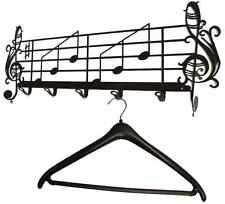 Wandgarderobe Notenschlüssel -  Musik - Garderobe - Metall - 60cm Flurgarderobe