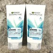 Garnier SkinActive Cream Face Wash with Aloe Juice Dry Skin 5.75 oz - Lot Of 2
