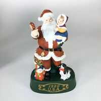 "Vintage USA Santa Ceramic Statue 9"" tall"