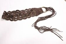 Fantastic Ladies Bohemian Style Hickory Brown Soft Belt w Tassels&Studs (S416)