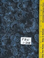 """FBW 1-208, 108"""" EXTRA WIDE QUILT BACKING BTY: FAUX BATIK LOOK, MIDNIGHT"""
