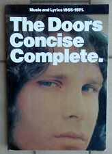 THE DOORS CONCISE COMPLETE MUSIC AND LYRICS 1965 - 1971 - WISE PUBLICATIONS 1992