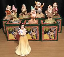 Disney / Royal Doulton Snow White & The Seven Dwarfs Complete Set Of 8 Figurines