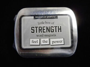 Magnetic Poetry Little Box of STRENGTH Word Magnets