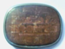 Vintage 1970's Radio & Records in Leather Belt Buckle