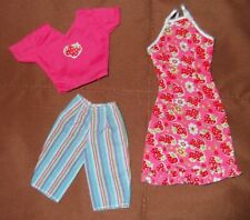 Barbie Doll Clothes - 2 MODERN STRAWBERRY PRINT OUTFITS