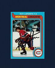 Guy Lapointe signed Montreal Canadiens 1979 Topps hockey card