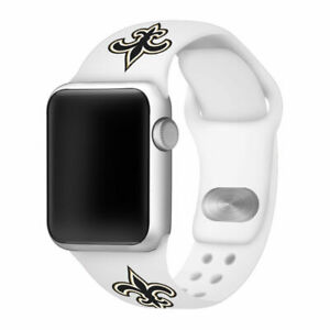 New Orleans Saints Silicone Sport Band Compatible With The Apple Watch