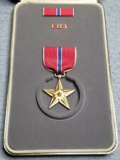 Us Bronze Star Medal In Presentation Box With Ribbon & Lapel Pin Modern Nib