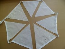Cream and White  Wedding Bunting Single side Cotton Fabric 12m/40ft