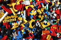 1 Kg Lego Steine, Platten, Räder - Sondersteine-Kiloware Gemischt ca.700 Teile