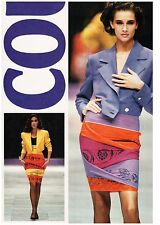 GIANNI VERSACE COUTURE yellow purple orange silk skirt size 8 / 42 from 1989