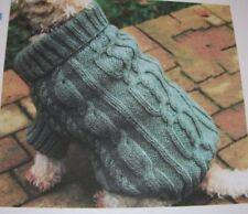 Dog Coat with Cable detail ~ Aran Knitting Pattern