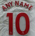 Sporting id Premier League Football Shirt Name Number Printing 2018 Onward  RED