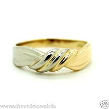 750er 18kt Gelb-Weißgold Ring, Bandring, poliert*