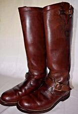 Chippewa Tall Brown Leather Snake Boots 23906 size 7E