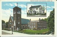 Peoples Church Bradford Street Dover Kent County Delaware 1930 Postcard