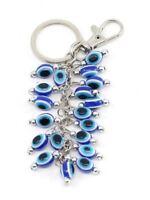 Greek Turkish Blue Beads evil eye Key Chain Ring Amulet Pendant Charm