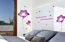 Beautiful Flower Room Decor Removable Wall Stickers Decal Decoration Wandtattoo