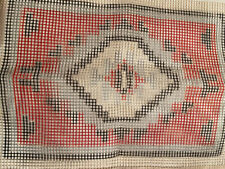 """Latch Hook Rug Pillow Hanging Canvas Only Ganado Red Ii 14x20"""""""