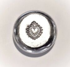 Flaming Heart - 1 Troy Ounce .999 Fine Tin Bullion Round - Grimm Metals