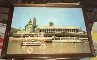 "Vintage Wood Framed Photo Of Cincinnati Reds Great American Ball Park 17"" x 12"""