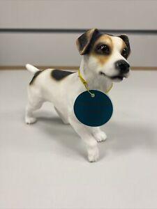 Leonardo Dog Studios Dog Ornament Figurine Standing Jack Russel White Black Spot