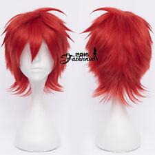 Kuroko's Basketball Akashi Seijuro Red 12 Inches Short Anime Cosplay Wig