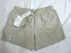 Tommy Bahama Womens Linen Drawstring Shorts Khaki/ Beige. Size S/P. New w/Tags
