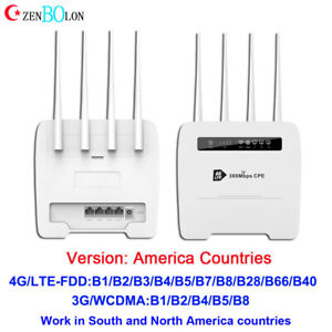 FDD LTE Modem 4G Router WiFi Hotspot For AT&T Verizon T-Mobile Global Unlocked