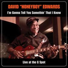 """David """"Honeyboy"""" Edwards - I'm Gonna Tell You Somethin' - NEW CD+DVD - Live G Sp"""