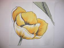 "Hübsches Panel ""Tulpe 1"" Basteln Nähen Patchwork Quilt Applikation"