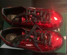 PUMA Women's Basket Platform Patent Risk Red Black Sneaker Size 7.5