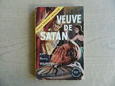 Satan's Widow by Harry Whittington , French Vintage 1950s