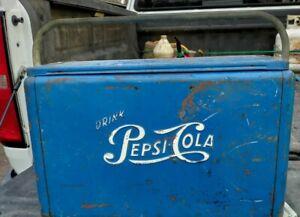 Vintage Pepsi Cola Blue Picnic Cooler Ice Chest