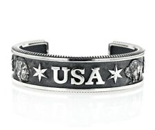 King Baby Studio Sterling Silver USA Cuff Bracelet K40-5908