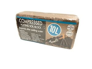 10x Kokos Quellerde Humusziegel 10L Anzuchterde Kokosfaser Pflanzenerde
