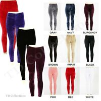Sexy Women Girl's Soft Velvet Leggings Skinny Stretchy Slim Ti Pants