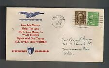 1944 Sioux City Iowa to Newcomerstown Ohio USA WWII Illustrated Patriotic Cover