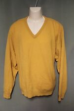 Club Room 100% Cashmere Mens Yellow Sweater XXL 2XL
