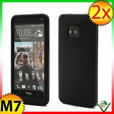 Pellicola + Custodia morbida silicone per HTC One M7 anti urto guscio NERO