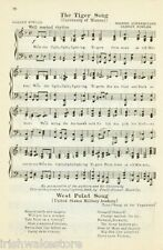 "UNIVERSITY OF MISSOURI Vintage Song Sheet c 1931 ""The Tiger Song"" - Original"