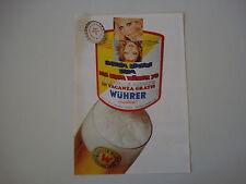 advertising Pubblicità 1971 BEER BIRRA WUHRER