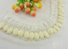 fashionable white Beaded Collar Necklace Applique Sewing/DIY/Dress