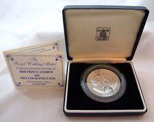 Royal Wedding HRH Prince Andrew Miss Sarah Ferguson Boxed 1986 Silver Medal 37g